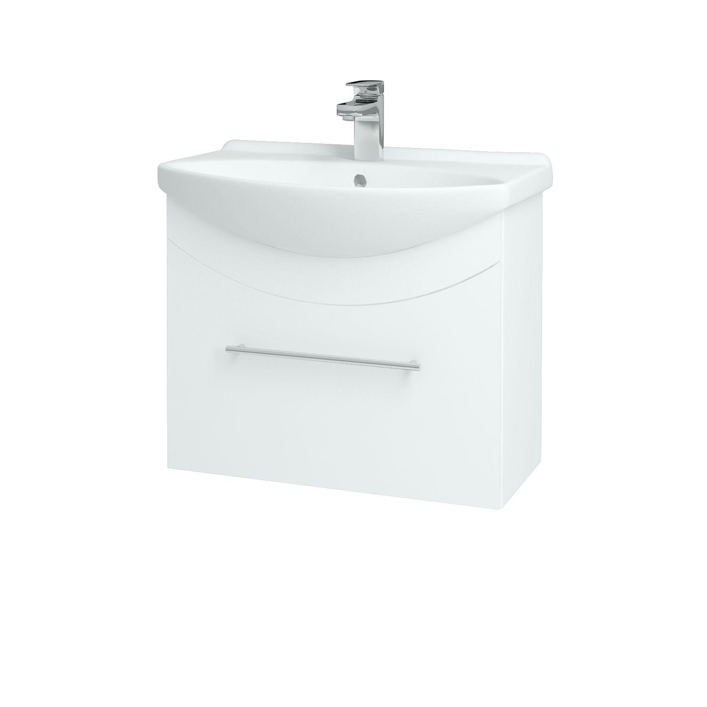 Dřevojas - Koupelnová skříňka WIND 65 S - L01 Bílá vysoký lesk / Úchytka B (50613)