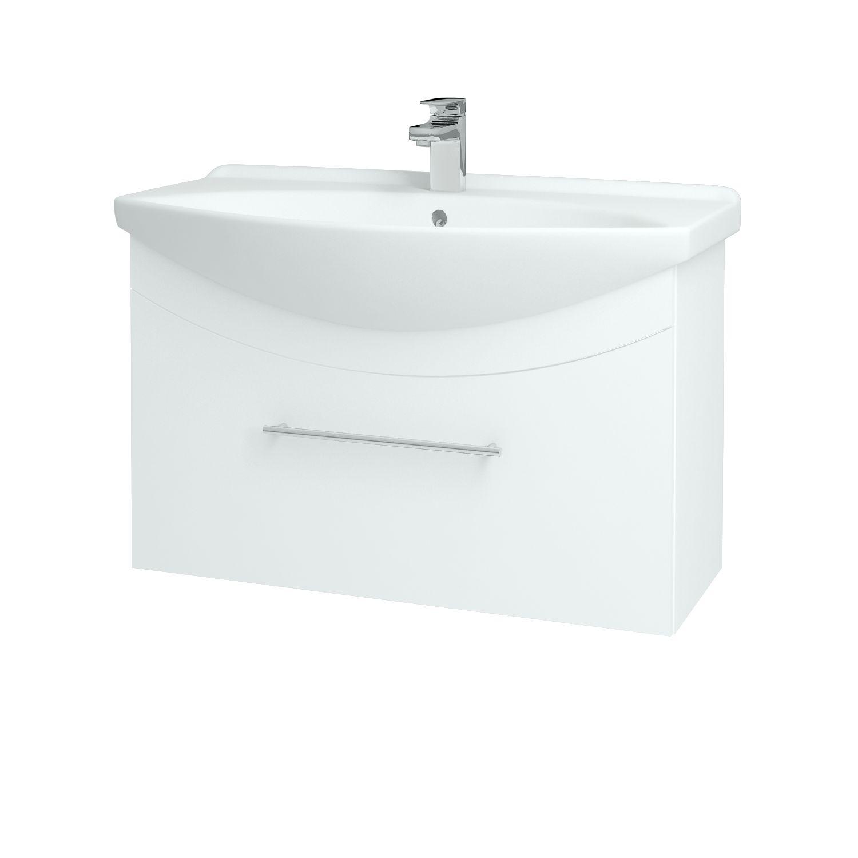 Dřevojas - Koupelnová skříňka WIND 85 S - L01 Bílá vysoký lesk / Úchytka B (50637)