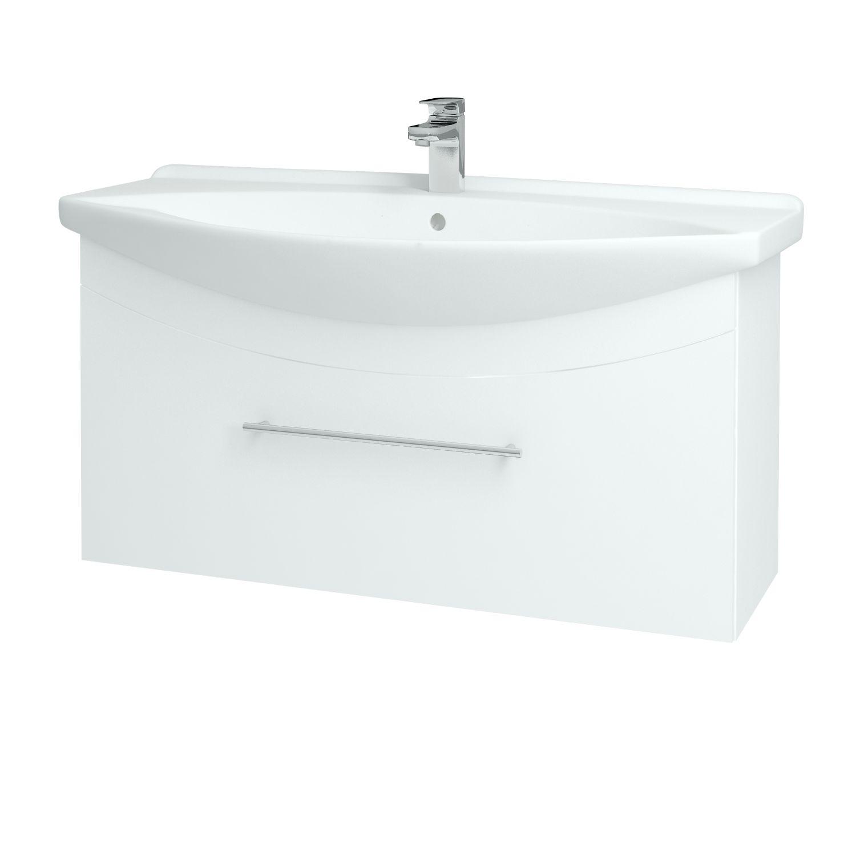 Dřevojas - Koupelnová skříňka WIND 105 S - L01 Bílá vysoký lesk / Úchytka B (50644)