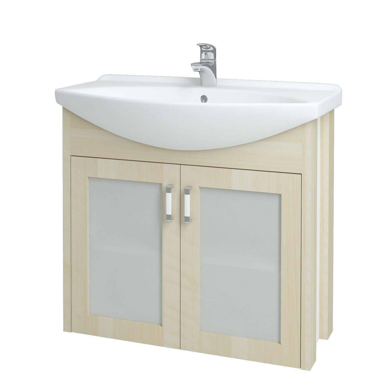 Dřevojas - Koupelnová skříňka DREJA PLUS 85 - D02 Bříza (90251)