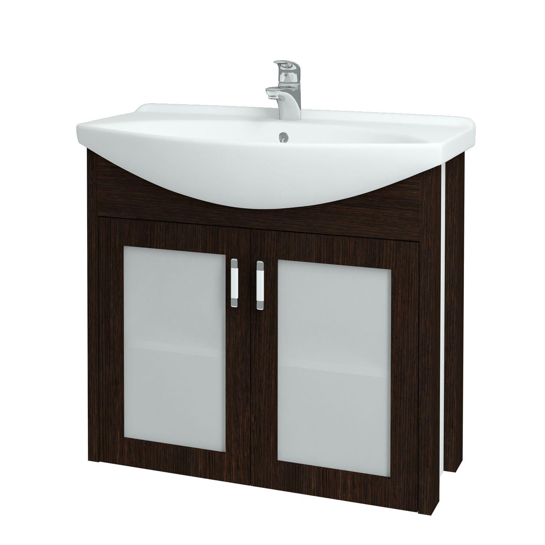 Dřevojas - Koupelnová skříňka DREJA PLUS 85 - D08 Wenge (90268)