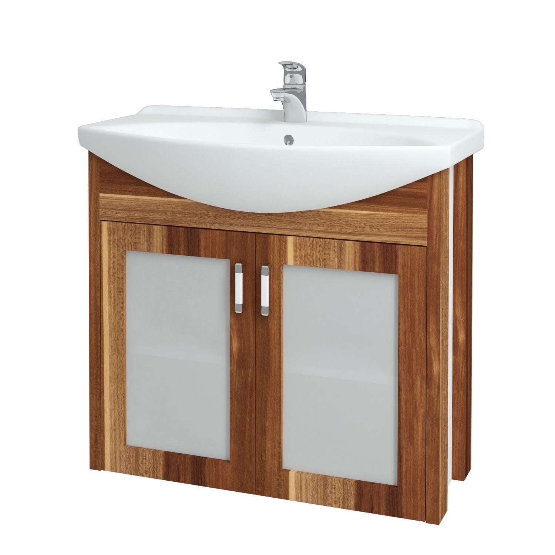 Dřevojas - Koupelnová skříňka DREJA PLUS 85 - F01 Švestka (90206)