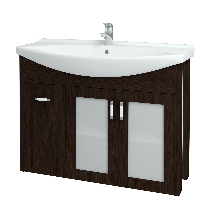 Dřevojas - Koupelnová skříňka DREJA PLUS 105 - D08 Wenge (90466)