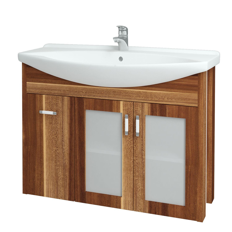 Dřevojas - Koupelnová skříňka DREJA PLUS 105 - F01 Švestka (90404)