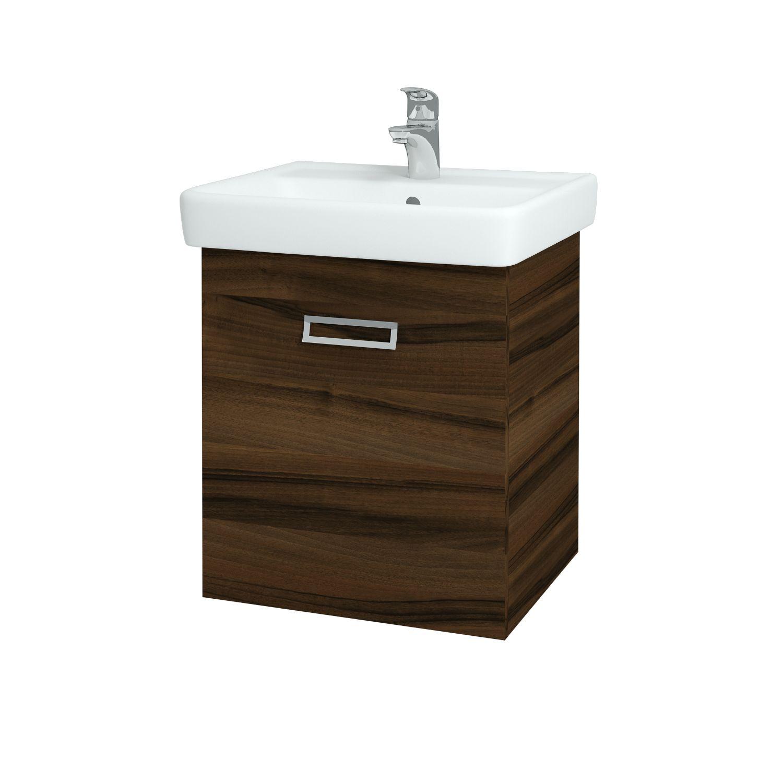 Dřevojas - Koupelnová skříňka Q MONO 550 FC - D06 Ořech (61411)