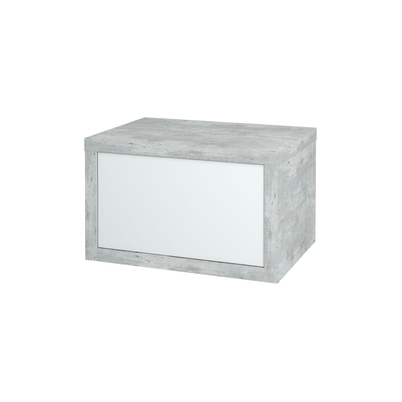 Dřevojas - Koupelnová přídavná skříň STORM 60 ZZ - D01 Beton (68533)