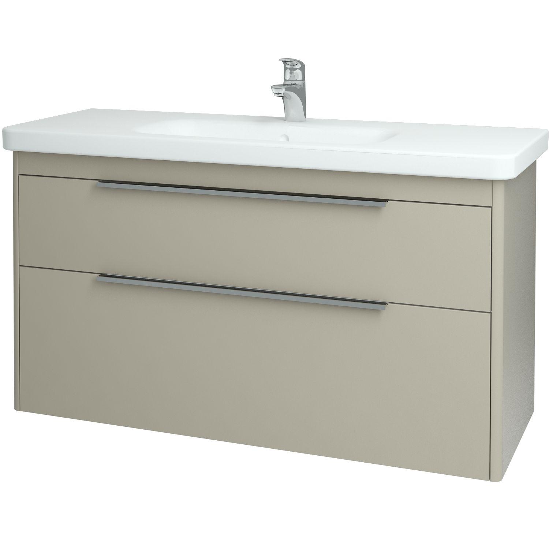 Dřevojas - Koupelnová skříňka ENZO 120 S FC - L01 Bílá vysoký lesk (52471)