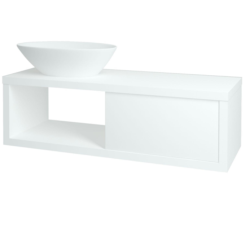 Dřevojas - Koupelnová skříňka STORM 120 TRIUMPH S FC (L) - L01 Bílá vysoký lesk (131746)