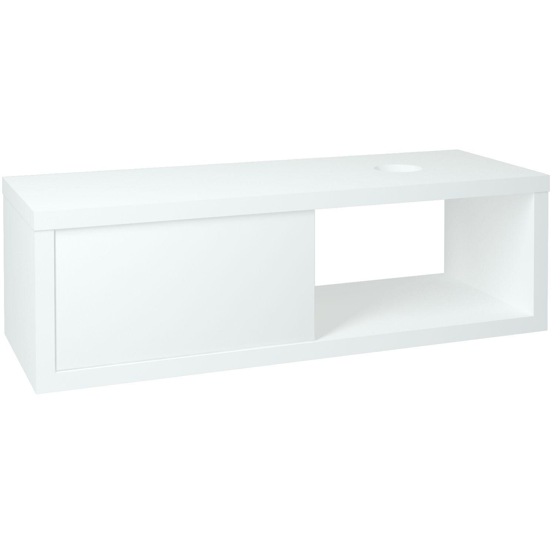 Dřevojas - Koupelnová skřínka STORM 120 S FC (P) - L01 Bílá vysoký lesk (67833)