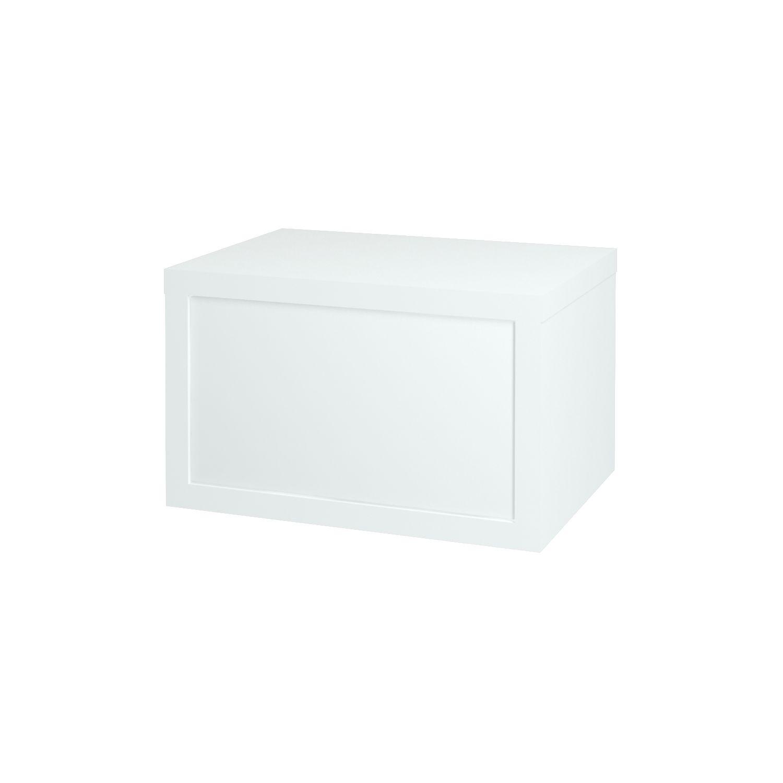 Dřevojas - Koupelnová přídavná skříň STORM 60 ZZ S FC - L01 Bílá vysoký lesk (67840)