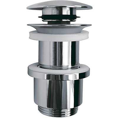 TRES - Zaslepený ventil pro dřevěné umyvadlo zátka Ø 63,5 mm CLICK-CLACK (13494110)