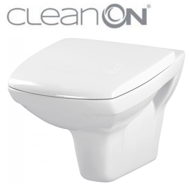 CERSANIT - ZÁVĚSNÁ MÍSA CARINA NEW CLEAN ON + SEDÁTKO (K31-046+K98-0069)